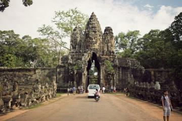 Angkor Temple and the Former Pol Pot's House